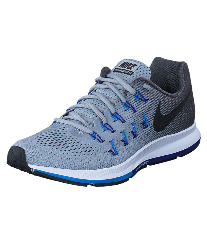 33ad21a9b1df9 Nike 1 Pegasus 33 Grey Blue Running Shoes - Buy Nike 1 Pegasus 33 Grey Blue  Running Shoes Online at Best Prices in India on Snapdeal
