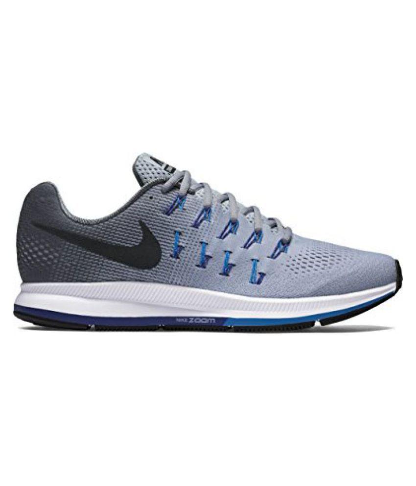 2f1afa072956 Nike 1 Pegasus 33 Grey Blue Running Shoes - Buy Nike 1 Pegasus 33 ...