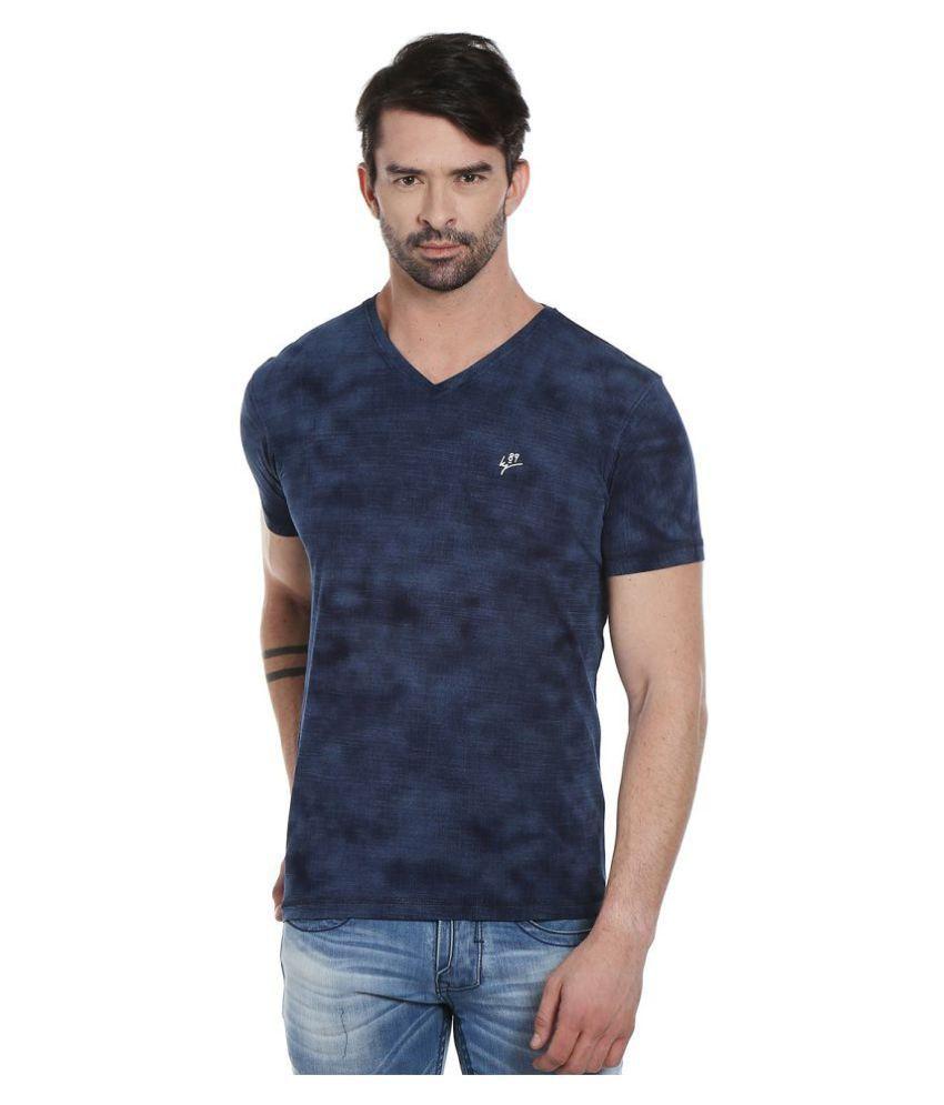Killer Blue V-Neck T-Shirt