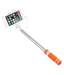 Maddcell Orange Aux Wire Selfie Stick - 85 cm