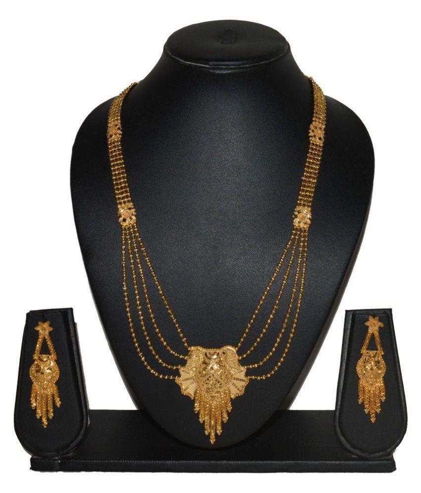 Fabzeel Golden Designer Necklace Set