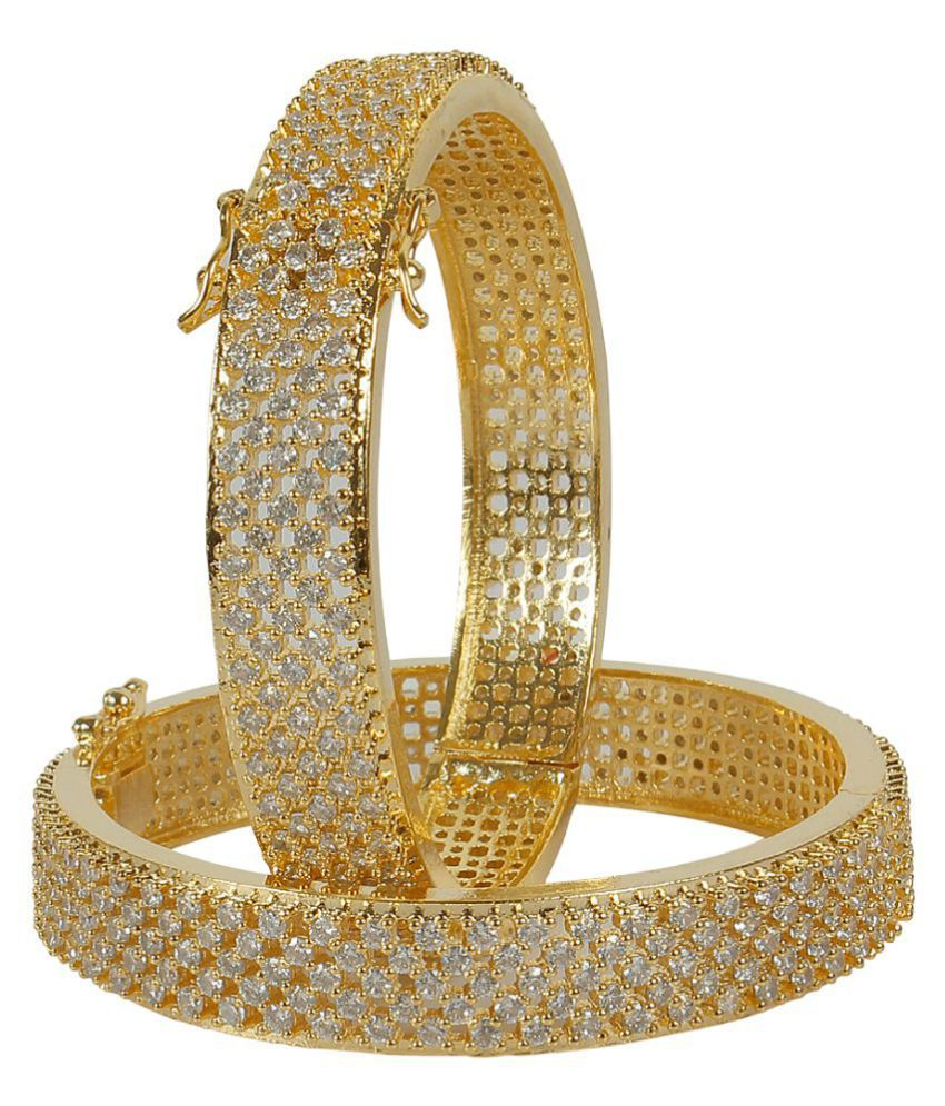 MUCH MORE Beautiful Ethnic Design Made Charming Gold Plated Bangles Set for Women