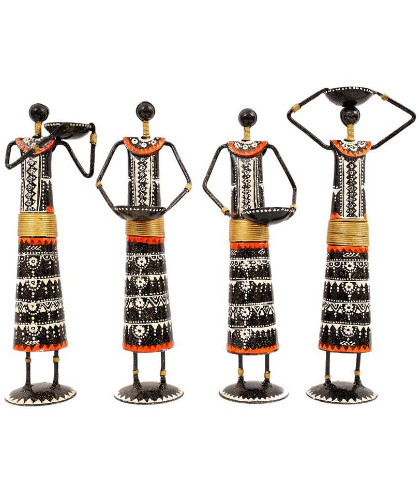 Creative Crafts Multicolour Iron Figurines 32 - Pack of 4