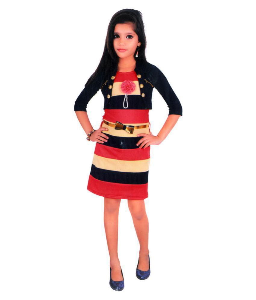 Arshia Fashions Girls Party wear Midi Dress
