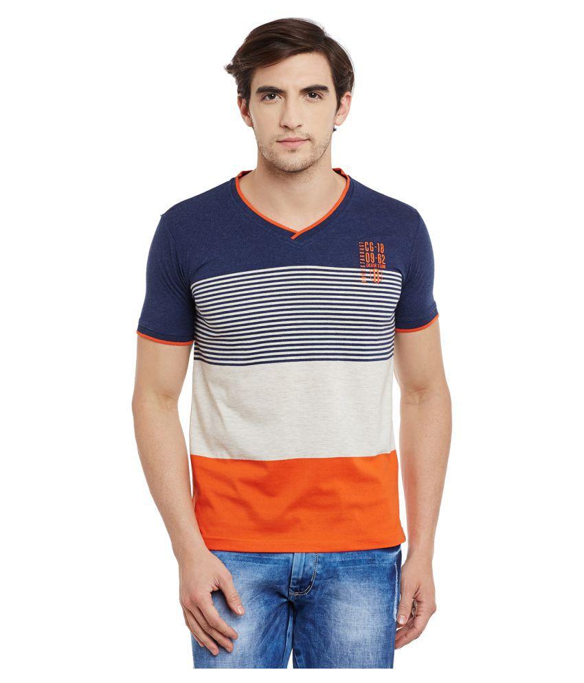 Duke Navy V-Neck T-Shirt