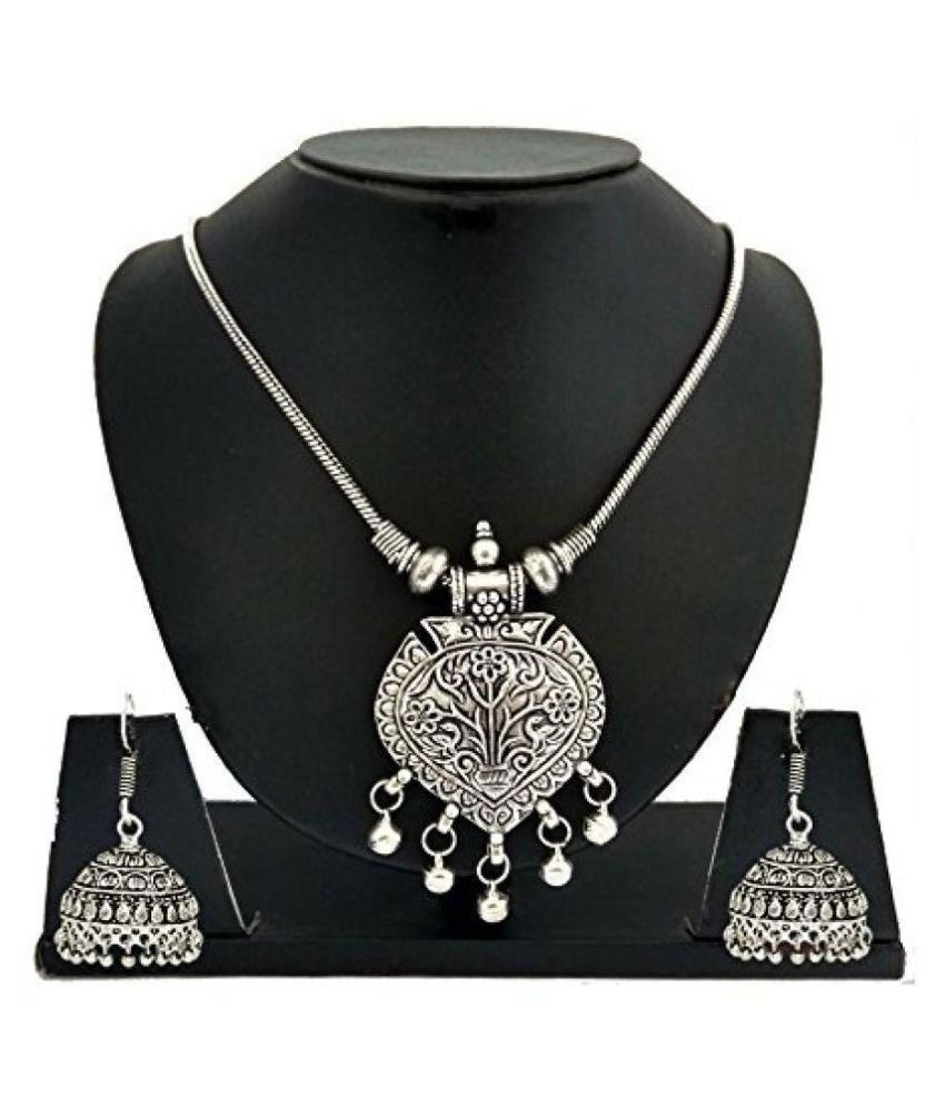 2e938bcc505 fashion/Antique jewellery Oxidised/German Silver Ginni Necklace Set For  Girls and Women