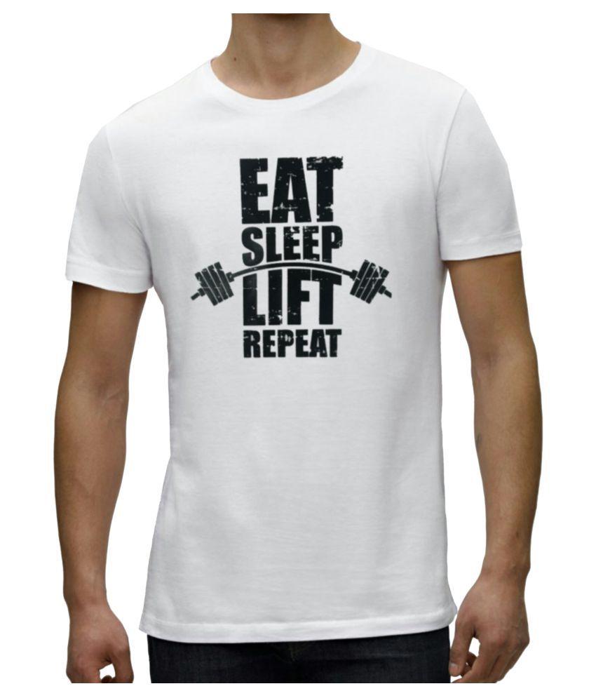 royaltees White Round T-Shirt