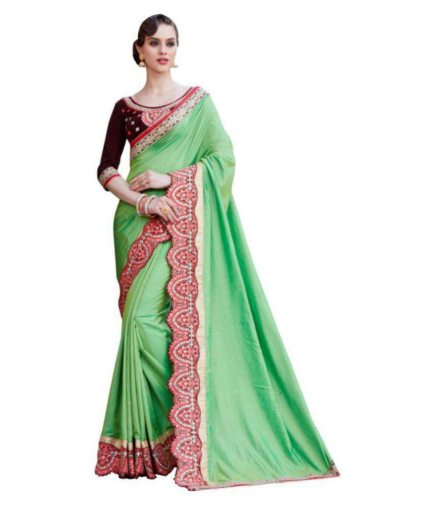 kataria fashion Green Silk Saree
