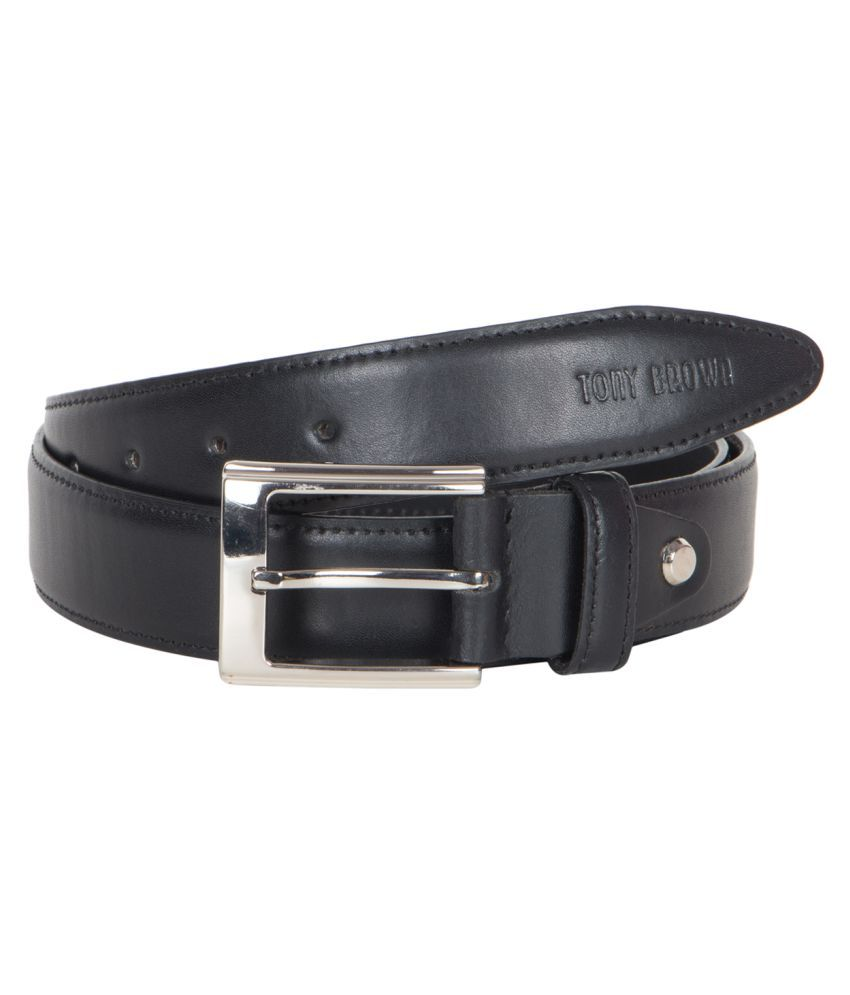 Tony Brown Black Leather Casual Belts