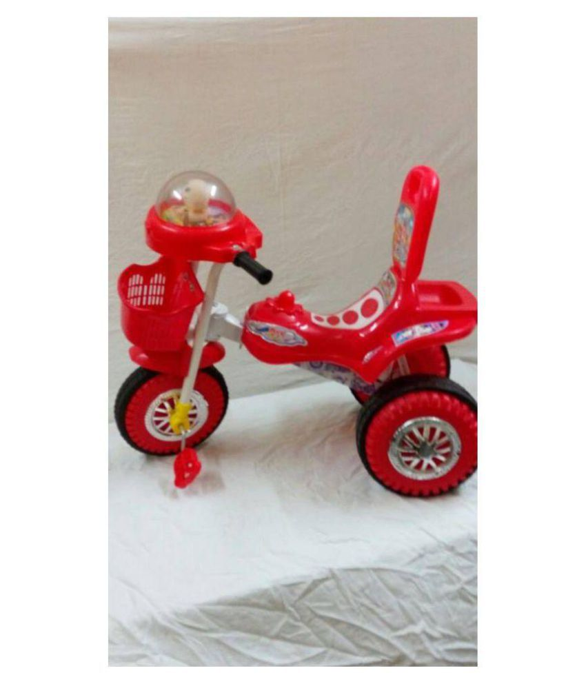 c40173f0b93 ... Chinar Three wheeler kids bicycle with musical hood Suitable for 2years  to 4years kids-Red