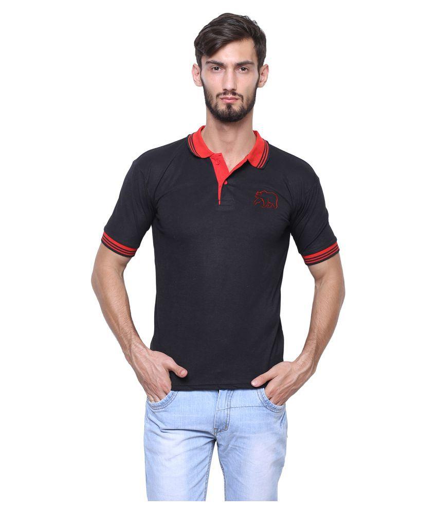 Grand Bear Black V-Neck T-Shirt