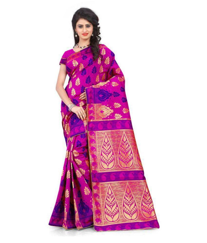 Fashion and Hub Multicoloured Banarasi Silk Saree