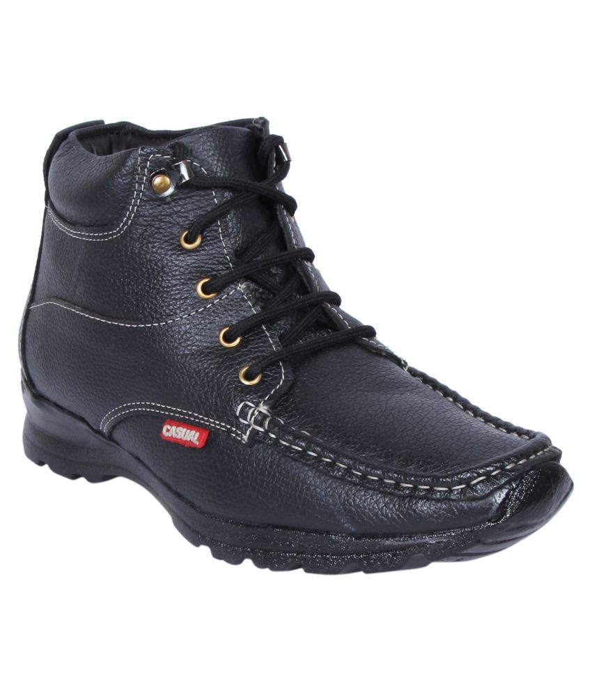 Stoss Black Casual Boot