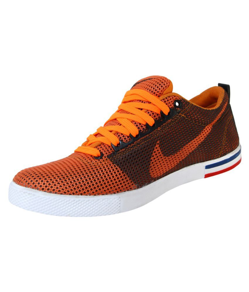 Accurate Traders Casual-03 Sneakers Orange Casual Shoes