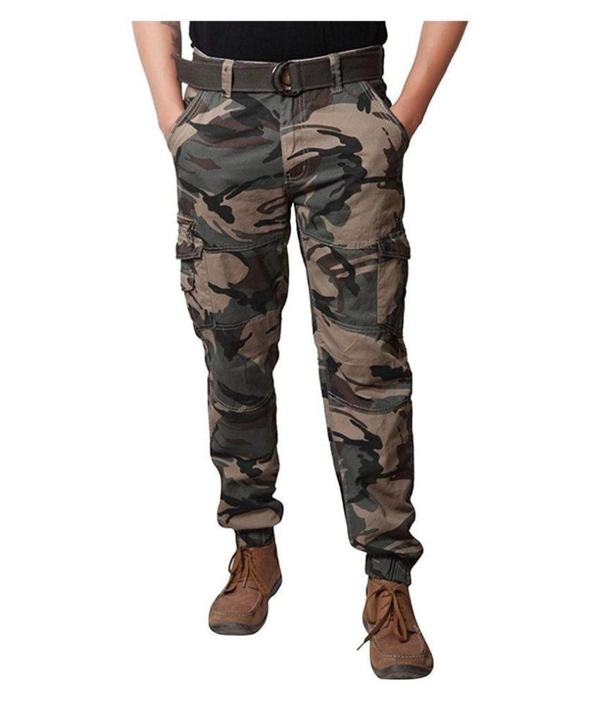 Verticals ARMY PRINT CARGO FOR MEN(joggers style)