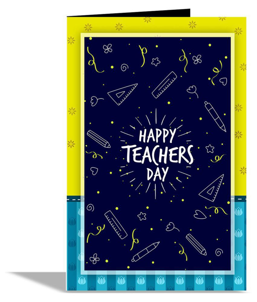 Happy Teacher Day Greeting Card Buy Online At Best Price In India