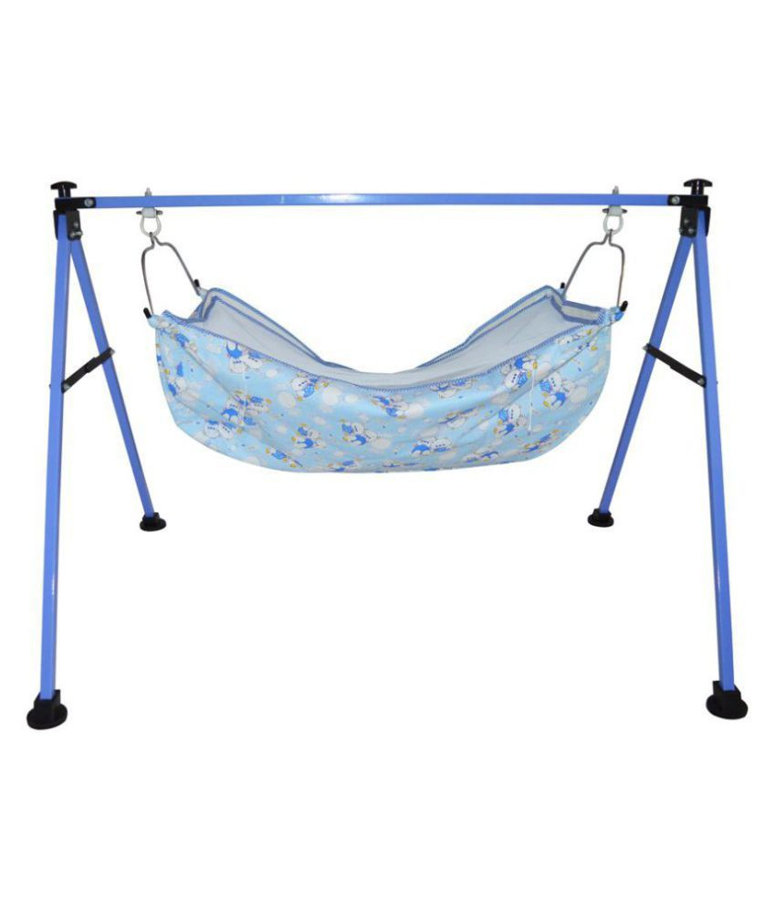 jo baby Baby Cradle Swing Ghodiyu Palna - Portable, Folding, Collapsible For New Born Infants
