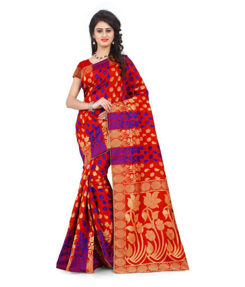 Mavani Multicoloured Banarasi Silk Saree