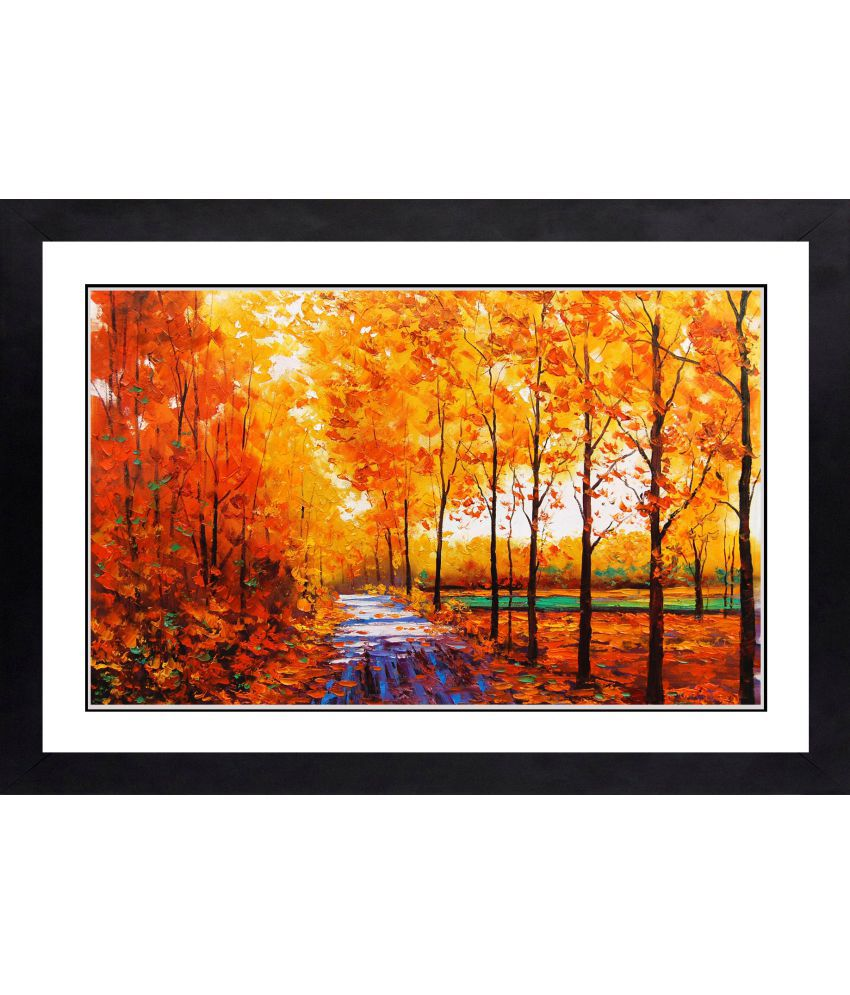 CRAFTSFEST MODERN ABSTRACT MDF Painting With Frame- (30cmX20cmX1.5cm)