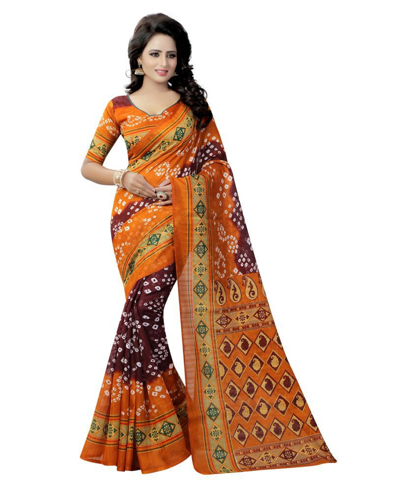 Lake Prints Multicoloured Bhagalpuri Silk Saree