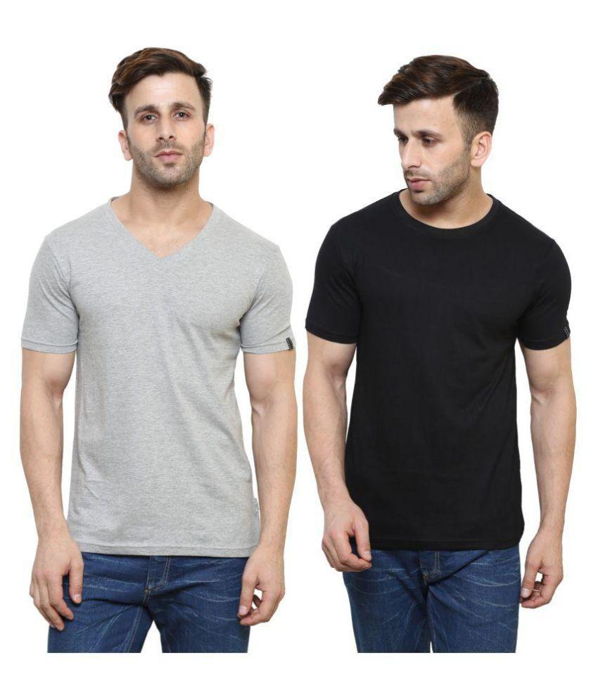 Espresso Multi Round T-Shirt Pack of 2