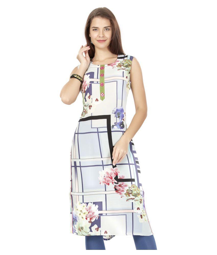 Prom-Girl Multicoloured Georgette Straight Kurti