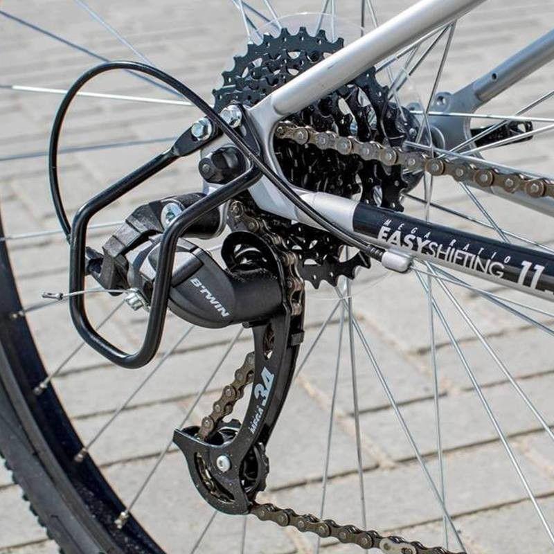 Buy Bicycle Online >> BTWIN Riverside 120 Grey 71.12 cm(28) Hybrid bike Bicycle ...