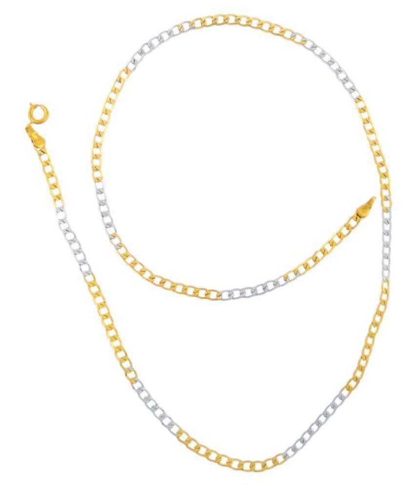 Saizen 22K Yellow Gold Plated Chain For Men