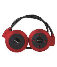 Teknomo Mini 503 Over Ear Wireless Headphones With Mic Red