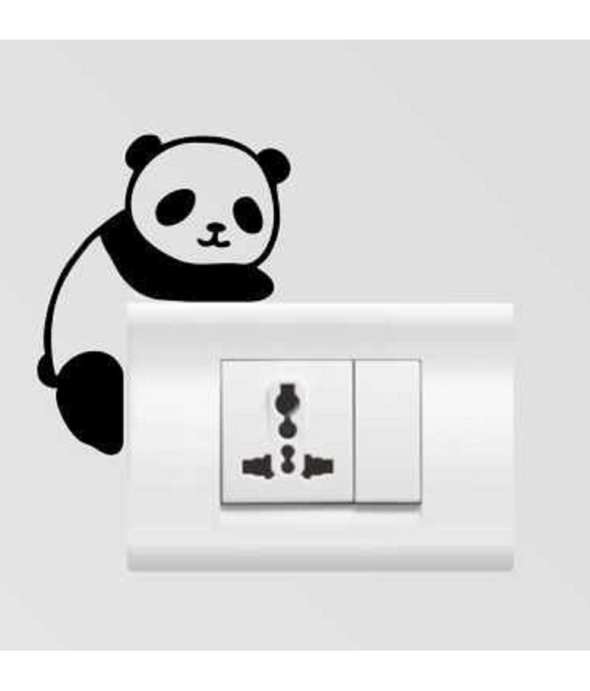 Genesis Arts 3d Panda High Quality Acrylic Switch Board Stickers  available at snapdeal for Rs.150