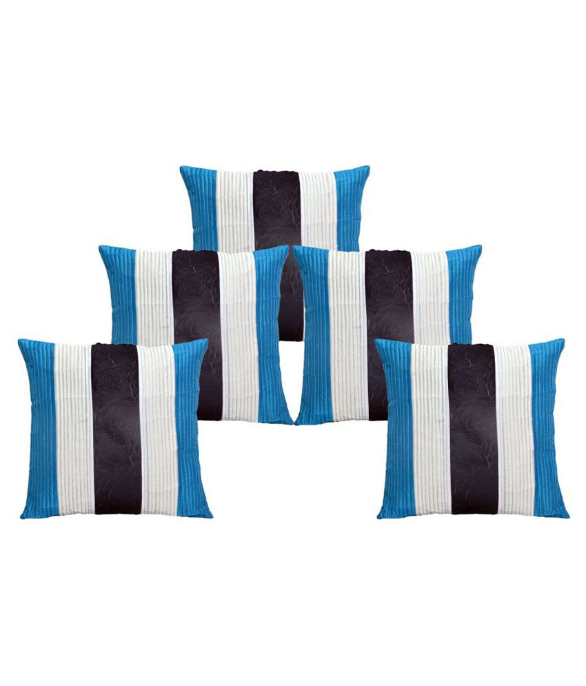 Home Royal Set of 5 Polyester Cushion Covers 40X40 cm (16X16)