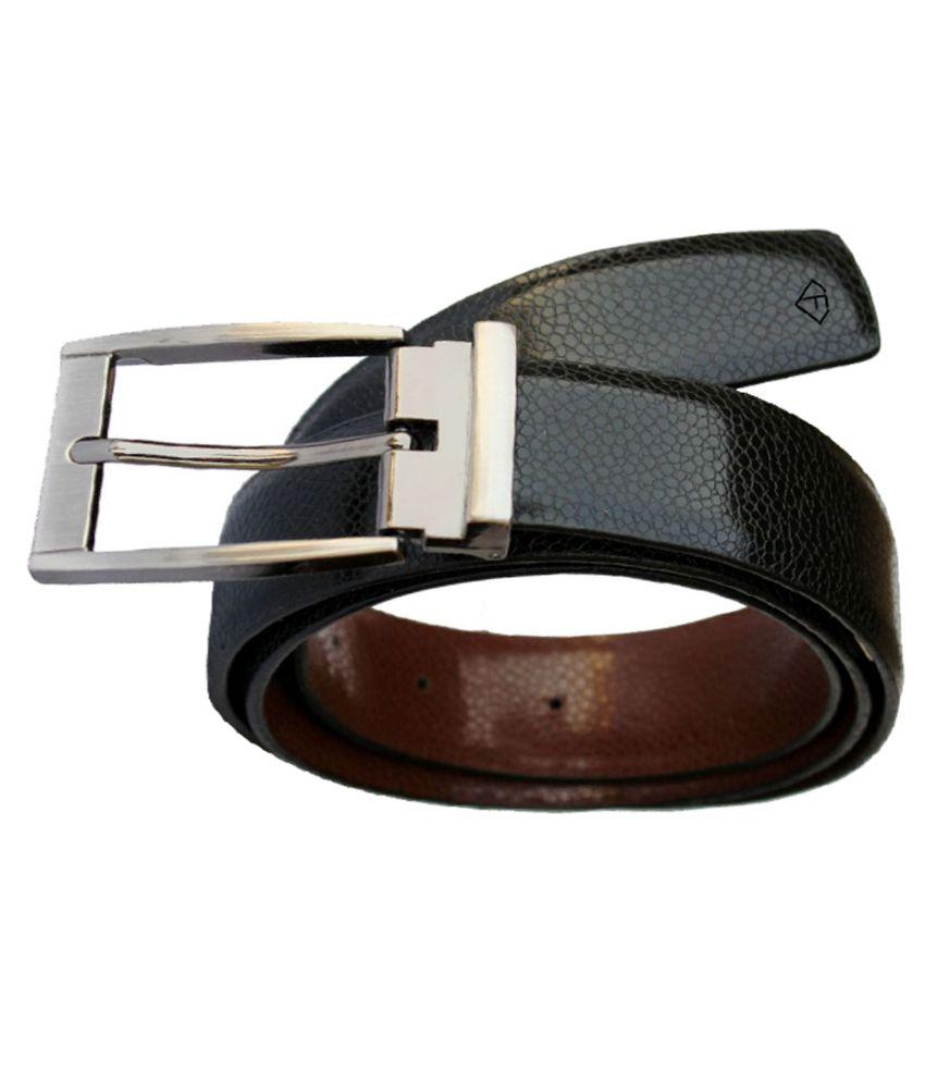 Fashius Black PU Formal Belt