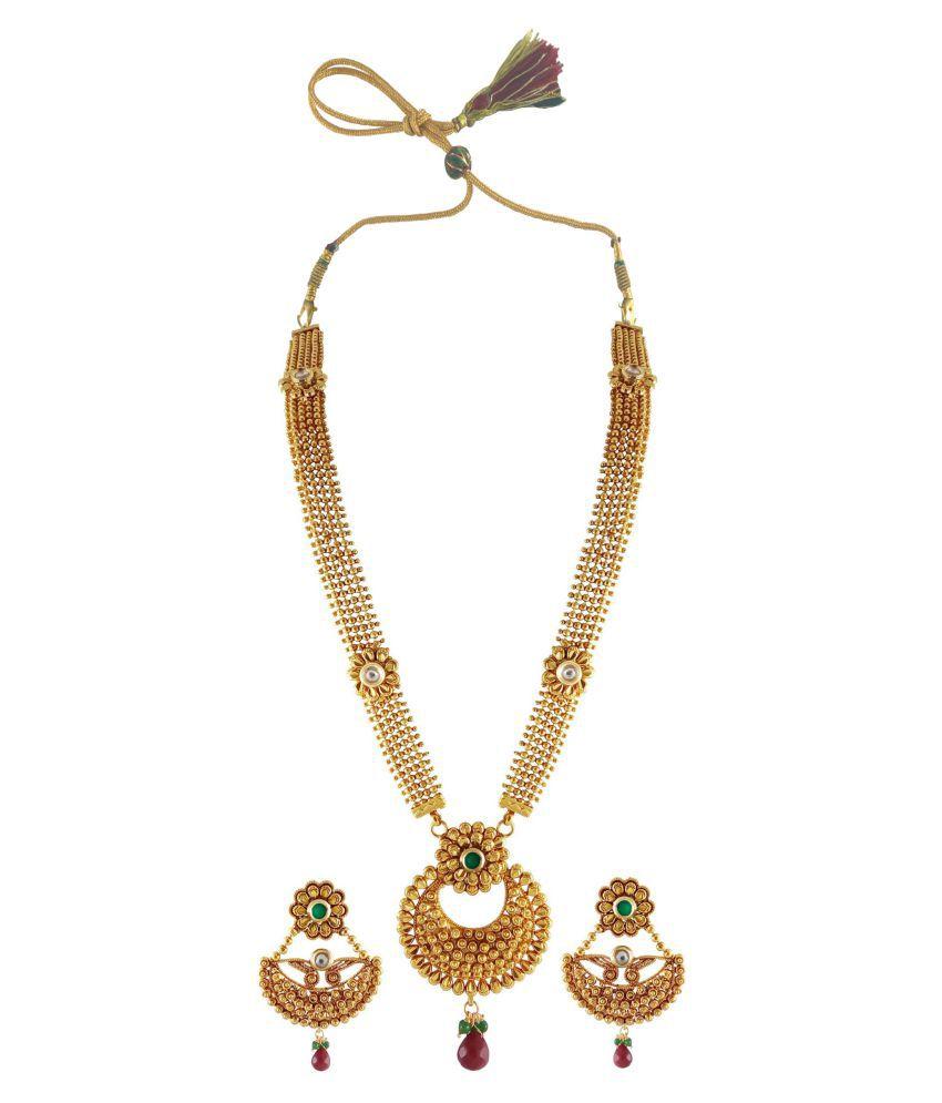 Rejewel Golden Necklace Set