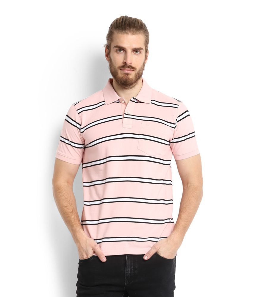 Allen Solly Pink Polo T-Shirt