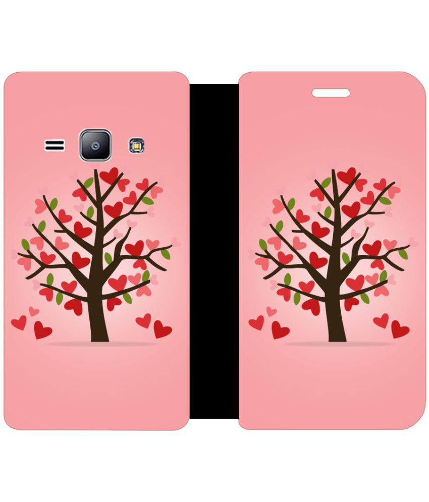 Samsung Galaxy J1 4G Flip Cover by Skintice - Pink