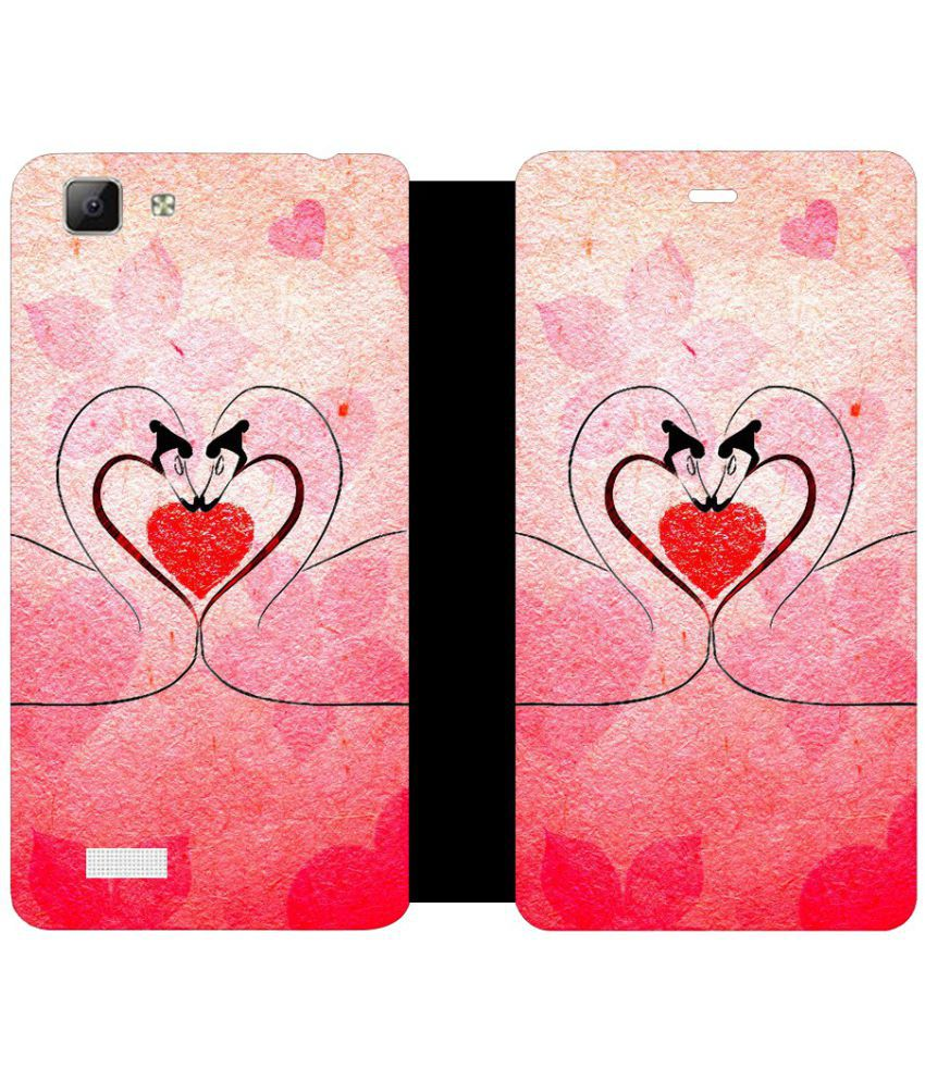 Vivo Y27L Flip Cover by Skintice - Pink