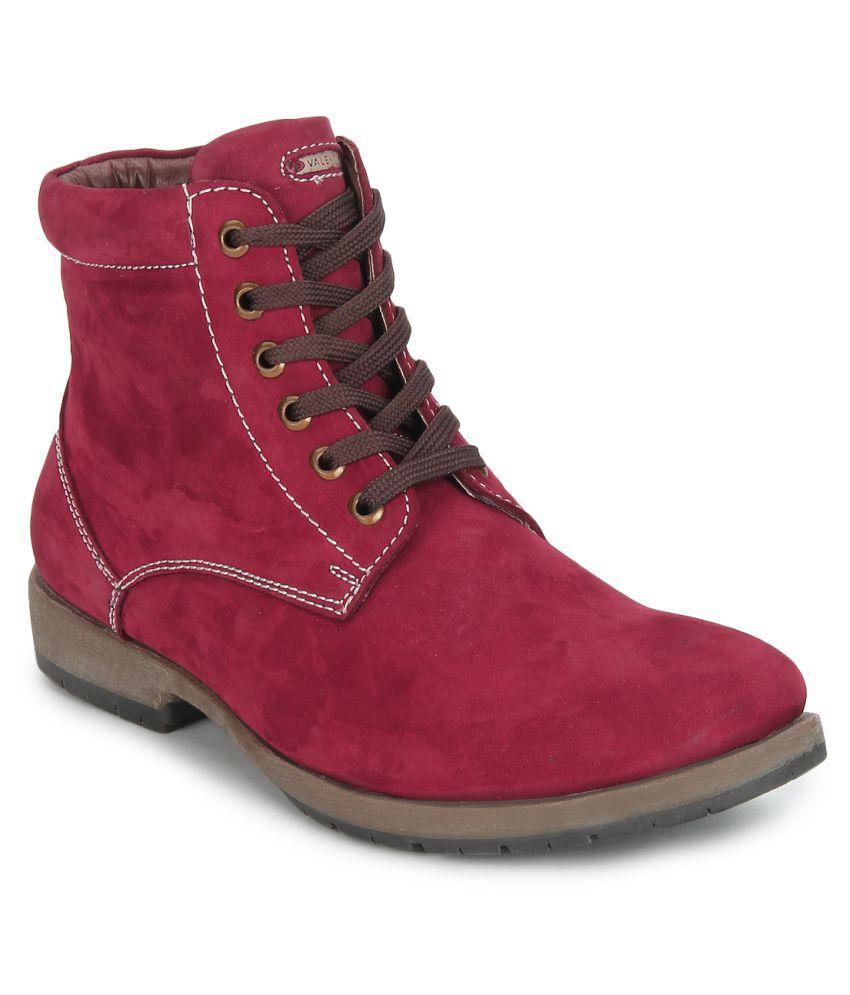 Valentino Maroon Casual Boot