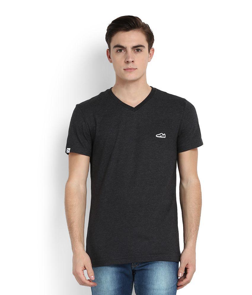 Puma Grey V-Neck T-Shirt