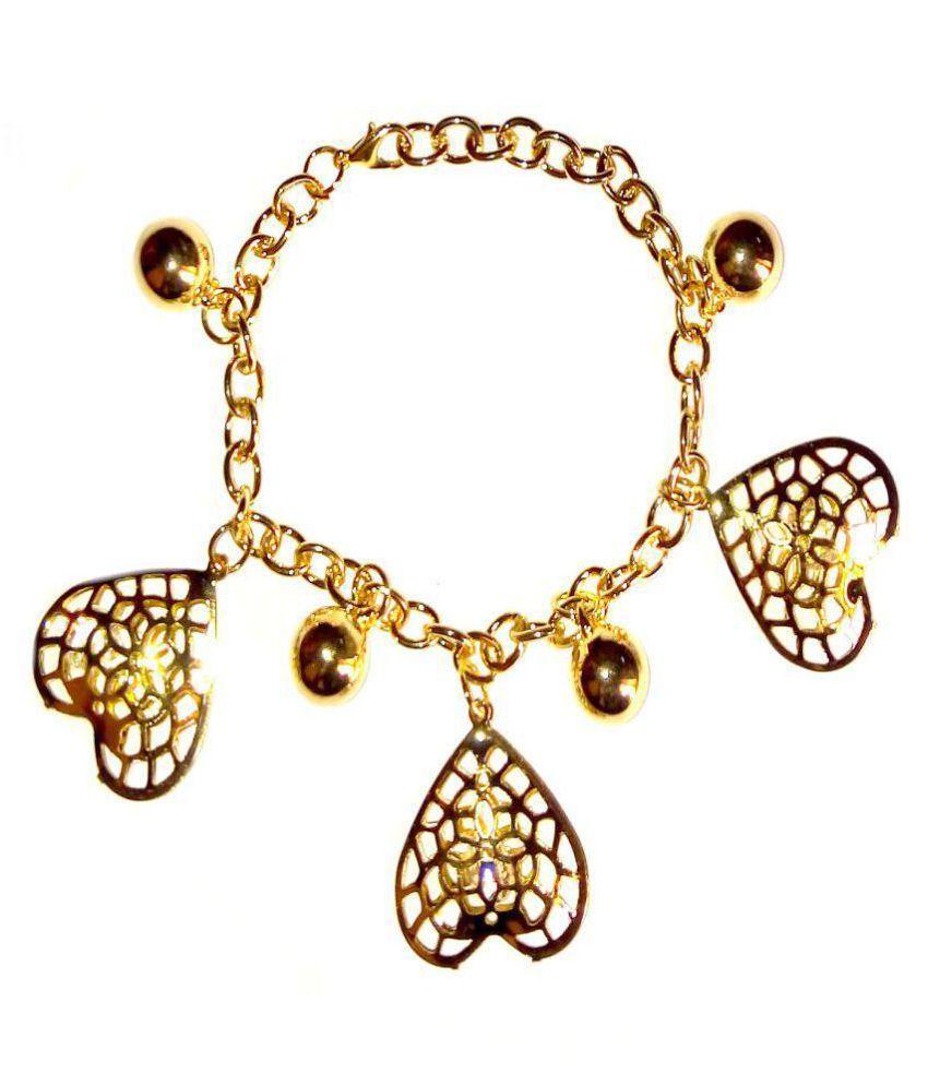 Shrungarika Golden Charm Bracelet for Women