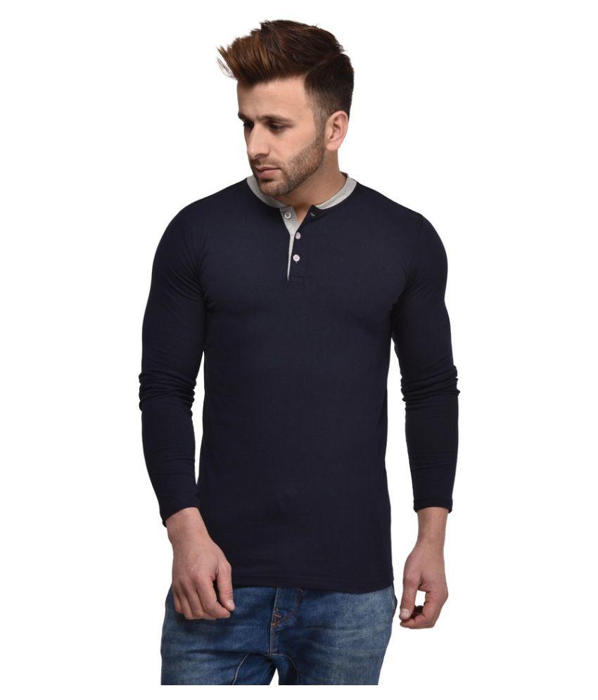 Kay Dee Creations Navy Henley T-Shirt