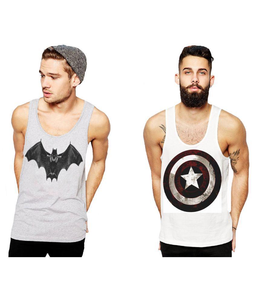 L'appel Du Vide Grey Polyester T-Shirt Pack of 2