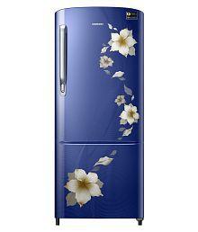Samsung 192 Ltr 3 Star RR20M272ZU2/NL & RR20M172ZU2/HL Single Door Refrigerator - Star Flower Blue