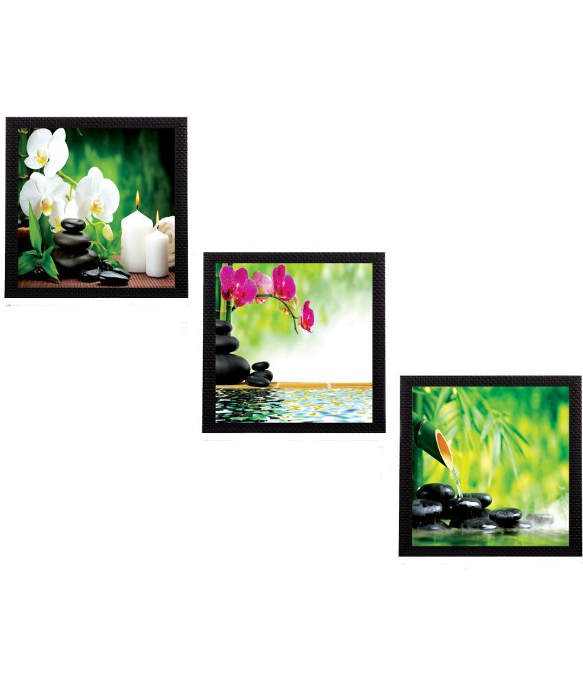 eCraftIndia Wood Painting With Frame Set of 3