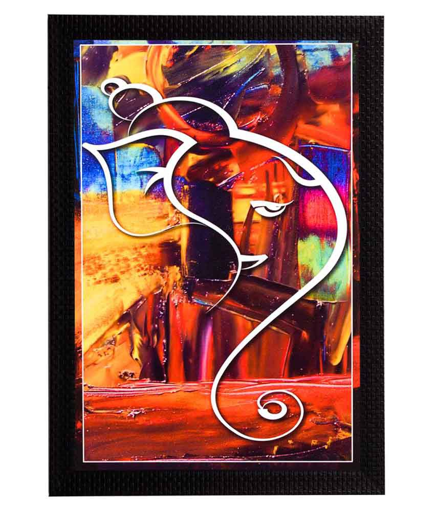 Ecraftindia  Framed Satin Matt Textured UV Art Print  Multicolor Wood Painting With Frame Single Piece