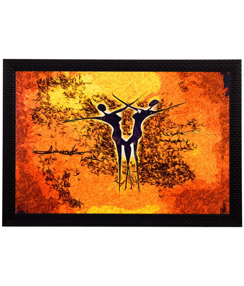 eCraftIndia Framed Satin Matt Textured UV Art Print Wood Painting With Frame Single Piece