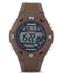 Sonata Brown Digital Watch For Men