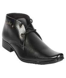 Aadi Black Party Non-Leather Formal Shoes