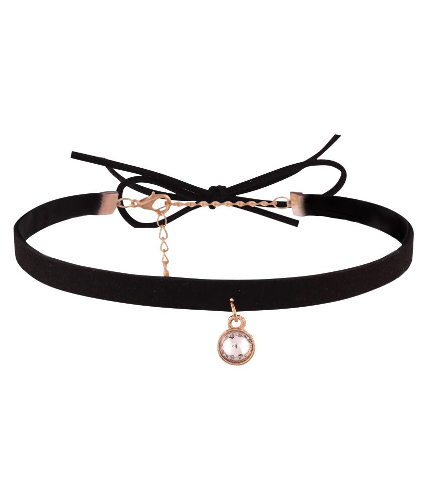 Jazz Jewellery Black Choker Necklace