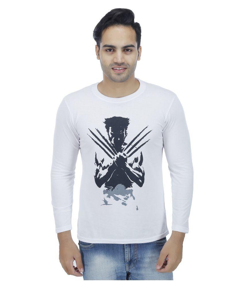 Darwin White Round T-Shirt