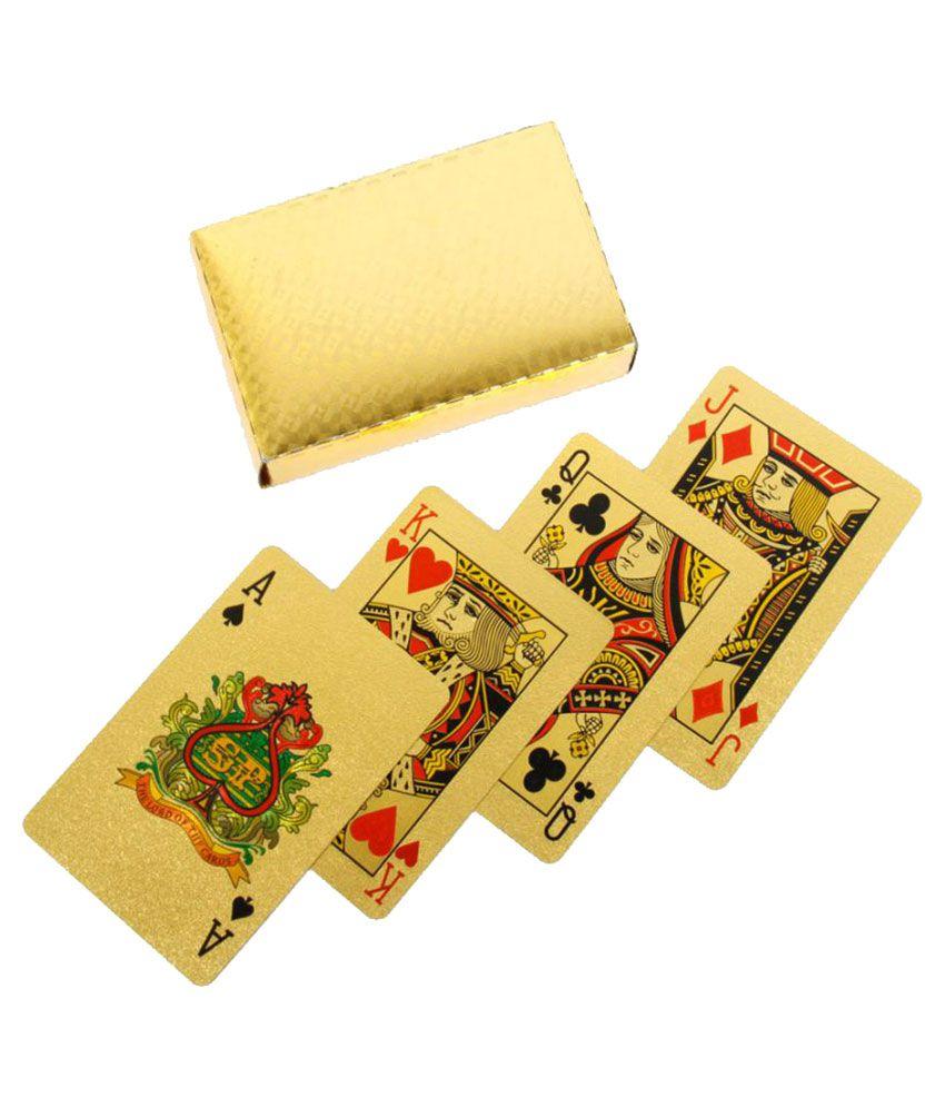 Scoria Yellow Plastic Playing Cards